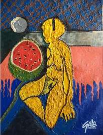hno. oscar galo ( figura picassiana de mujer desnuda l 68 x 82.5 cm ( precio us$ 13,000