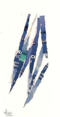 collage rasgado azul 2