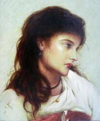 wonderful reproduce painting people art- portrait of girl  by hongtao
