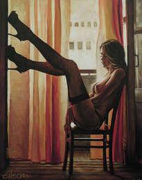 seven sunsets - original painting by donka nucheva ellectra