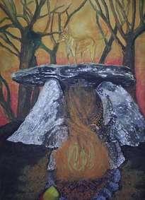 taiga: la guardiana del dolmen-serie ilustraciones con historia
