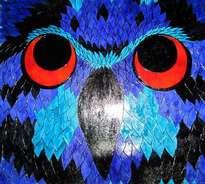 buho viejo azul