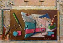 el barco de los sueños, en construcción - ( efecto 3d enmarcado)