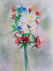 flores a pastel blando