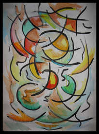 colores y formas en composición