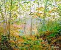 canto de pajarillos en el bosque