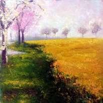 paisaje amarillo