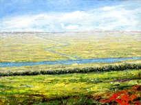 paisaje con rojo
