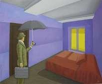 el hombre del paraguas