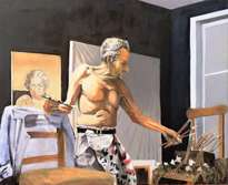 lucien freud at work