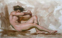 2012 original oil painting art-male nude by hongtao