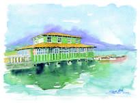 embarcadero lago san pablo