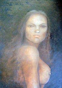 mujer,obra al óleo sobre tela  de  alberto thirion