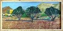 paisaje con tres olivos