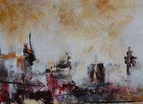 ciudad rojo y ocre
