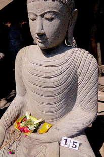 buda bhumisparshasha stone