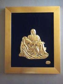 24k art gold '' pieta ''