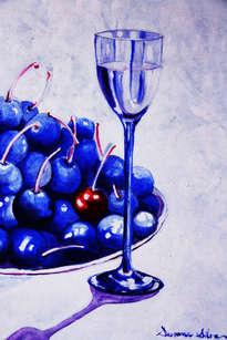 título: cerezas azules