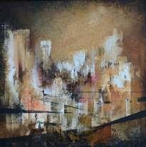 ciudad abstracta entre lineas