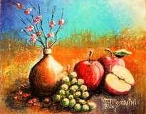 terracota y frutas