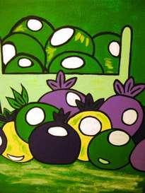 frutas en verde