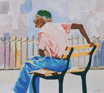 anciano en el parque