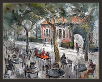 sant guim de freixenet-segarra-lleida-lerida-estacion-ferrocarriles-pintura-cuadros-pintor-ernest de