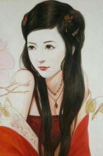 oil painting art-chinese girl by hongtao
