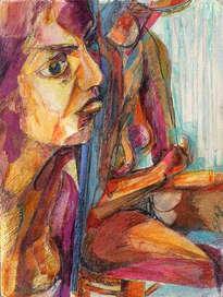 mujer ante el espejo xiv