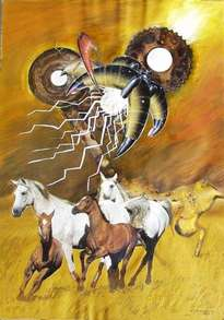 vu 18 galopping horse herd 2