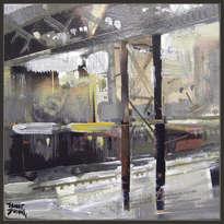 estacion-ferrocarriles-tren-paisaje-urbano-pintura-cuadros-pintor-ernest descals