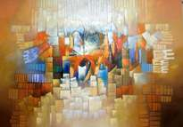 abstracto 140 x 100 cms.