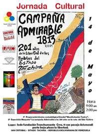 afiche campaña admirable 1813-2014 en táchira