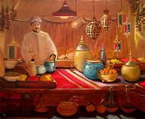 el vendedor de especias, the spice seller