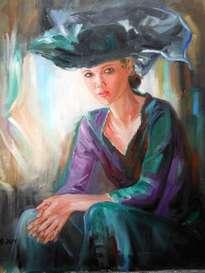 joven con sombrero negro