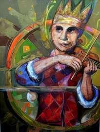 el violinista del chaleco rojo