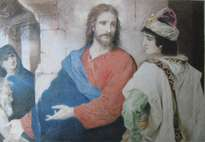 jesús y el joven rico. jesus and the rich young