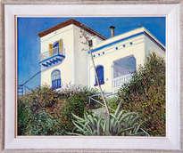 casa mar i sol en primer plano