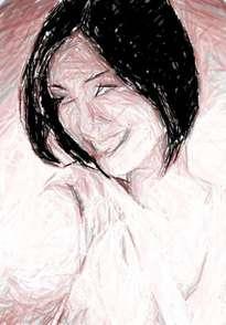 boceto mujer oriental 1