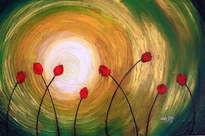 tulipanes y resplandor