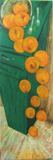bodegon naranjas y tenedores
