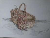 canasta y uvas