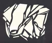abstracto en blanco y negro