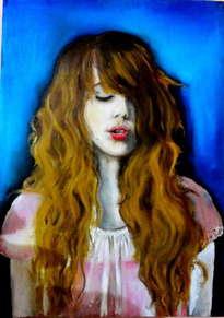 retrato de una señorita.