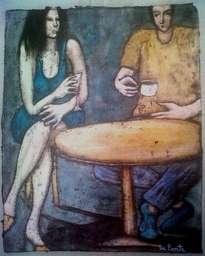 pareja en el bar