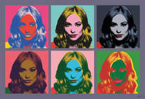 olivia wilde. retrato pop art estily andy warhol