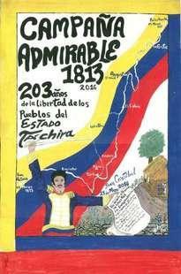 afiche campaña admirable 1813-2016 en táchira