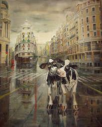 par de vacas gran via de madrid