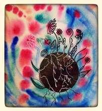 bulle de vie : fleur