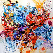 abstract cauta-ma printre ganduri, original art by e.bissinger